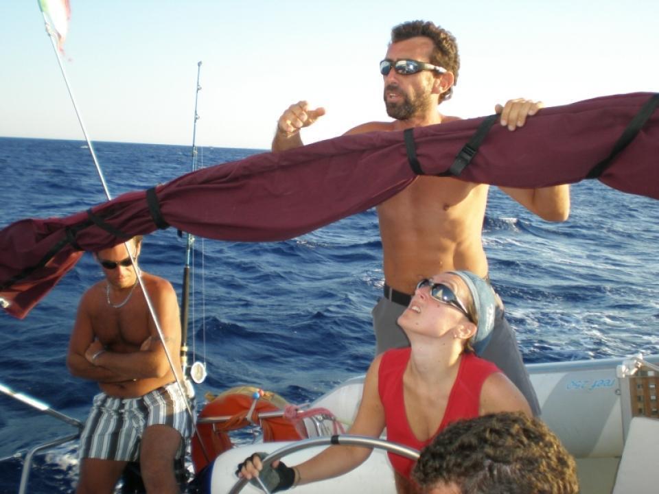 Pesca dalla Barca a vela