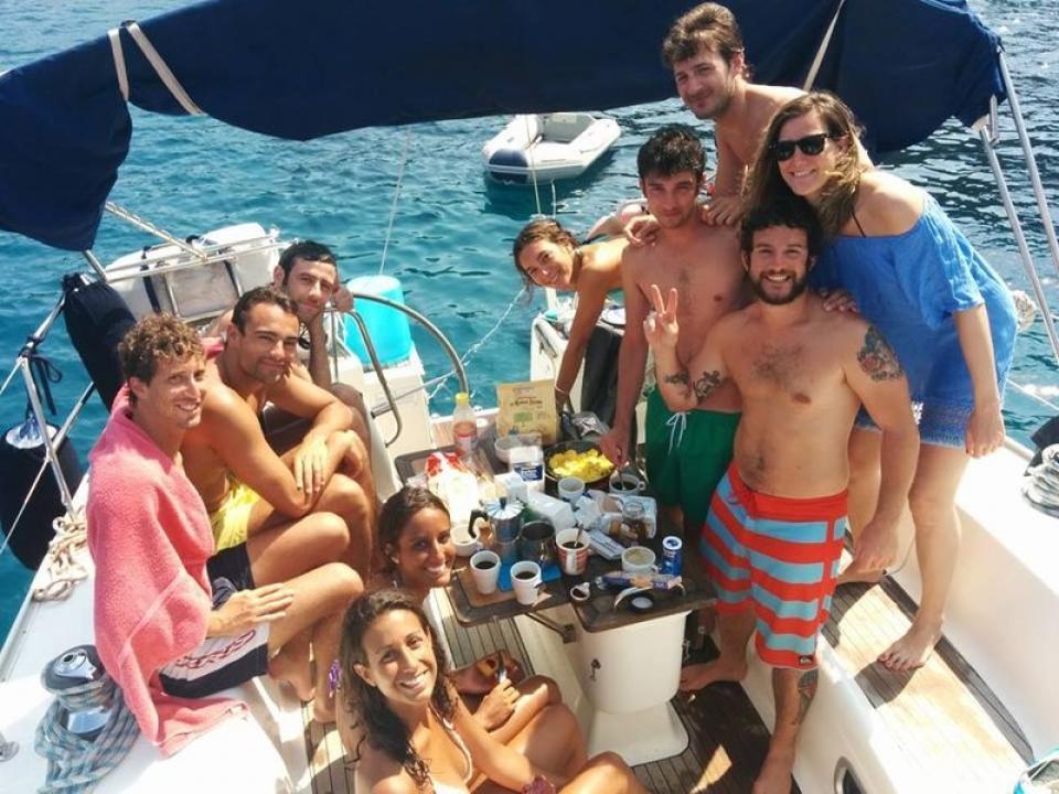 Festa con skipper isole Elba e Capraia