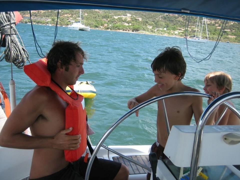 Famiglia in barca a vela e Genitori Single