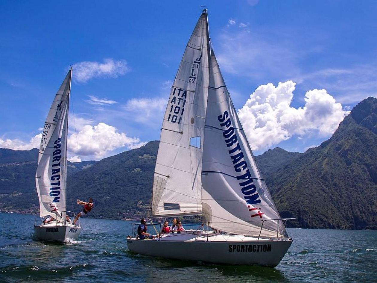 Escursione barca vela Lago di Iseo