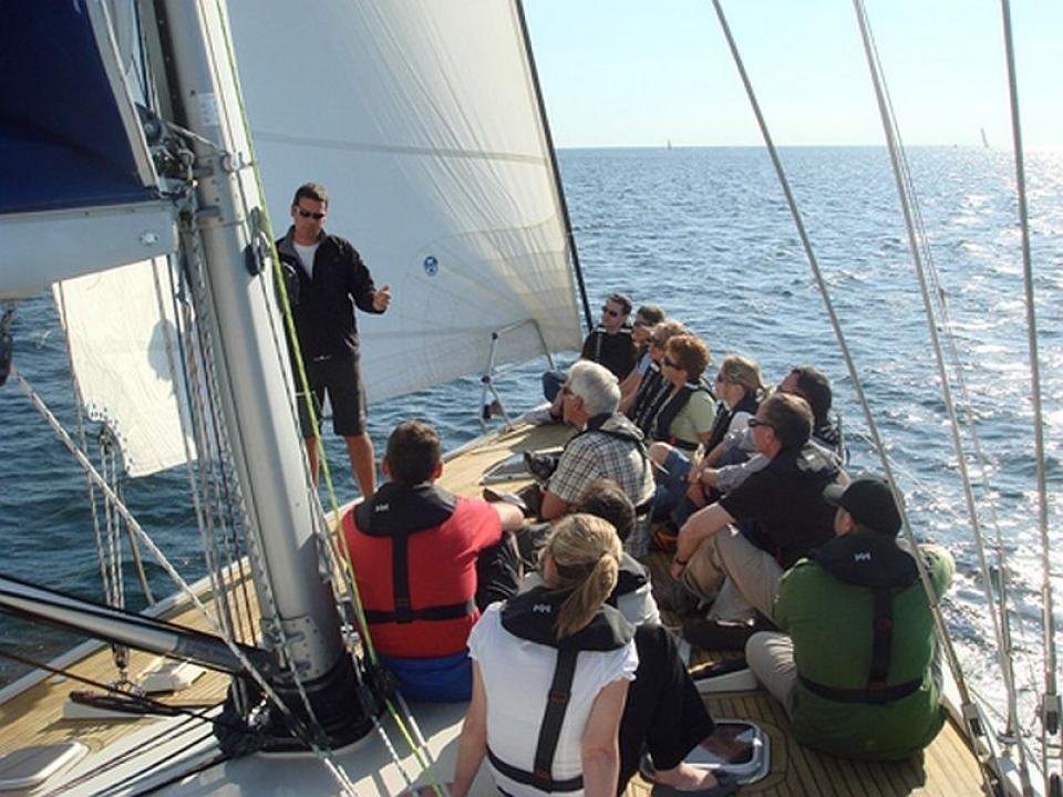 Team Building in barca a vela Portofino