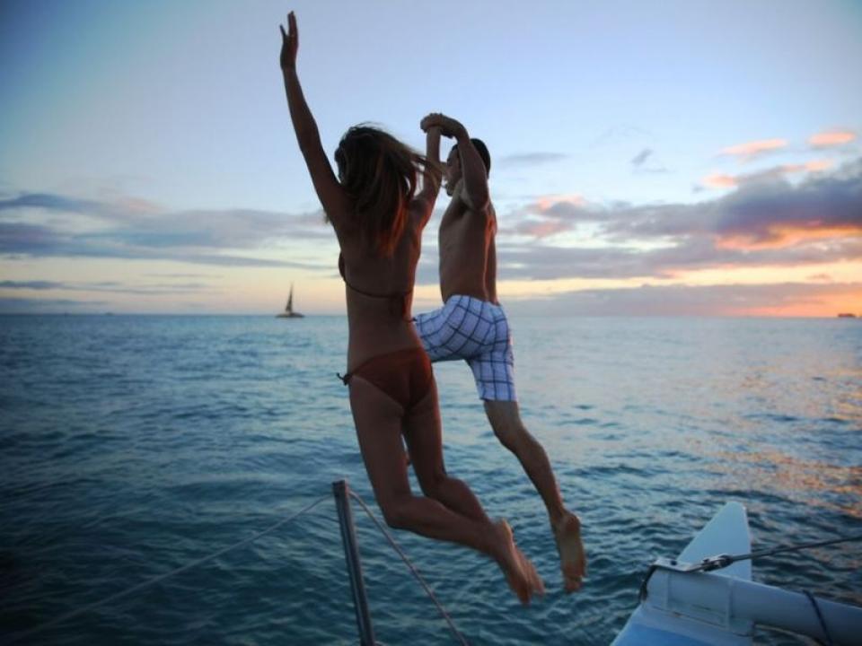 Festa di addio al nubilato in Catamarano Golfo dei Poeti